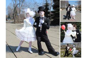 Мимы и клоуны на свадьбу