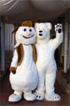 Ростовая кукла снеговик, белый медведь