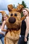 Ростовая кукла коричневая собака