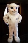 Ростовая кукла белый леопард