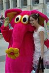 Ростовая кукла Розовый слон