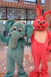 Ростовая кукла заяц, слон