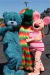 Ростовая кукла медведь, разноцветный дракон, пятачок